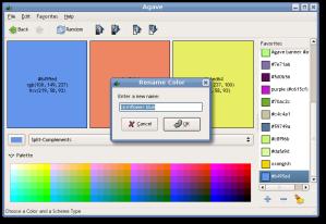 અગેવ સ્ક્રિનશોટ: http://home.gna.org/colorscheme/screenshots.shtml માંથી