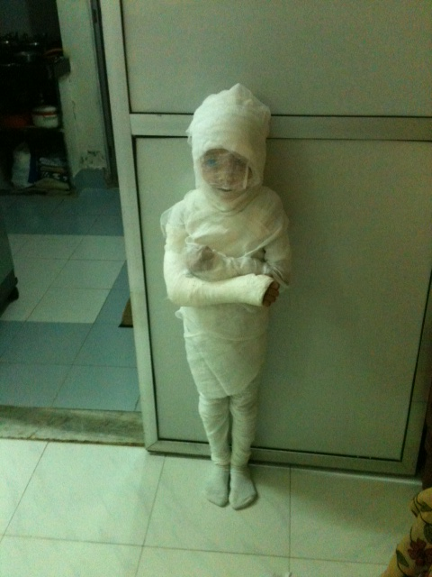 Egyptian Mummy in fancy dress competition!